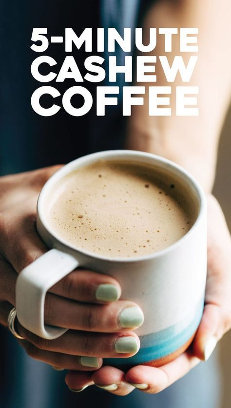 Cashew Coffee: TOTAL GAMECHANGER. the creamiest coffee you've ever had, made with just brewed coffee, cashews, honey, and sea salt.   pinchofyum.com