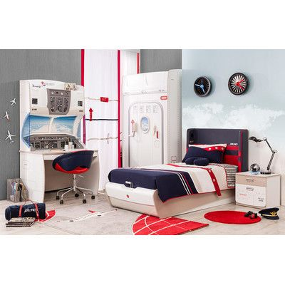 Cilek First Class Airplane Twin Storage Customizable Bedroom ...