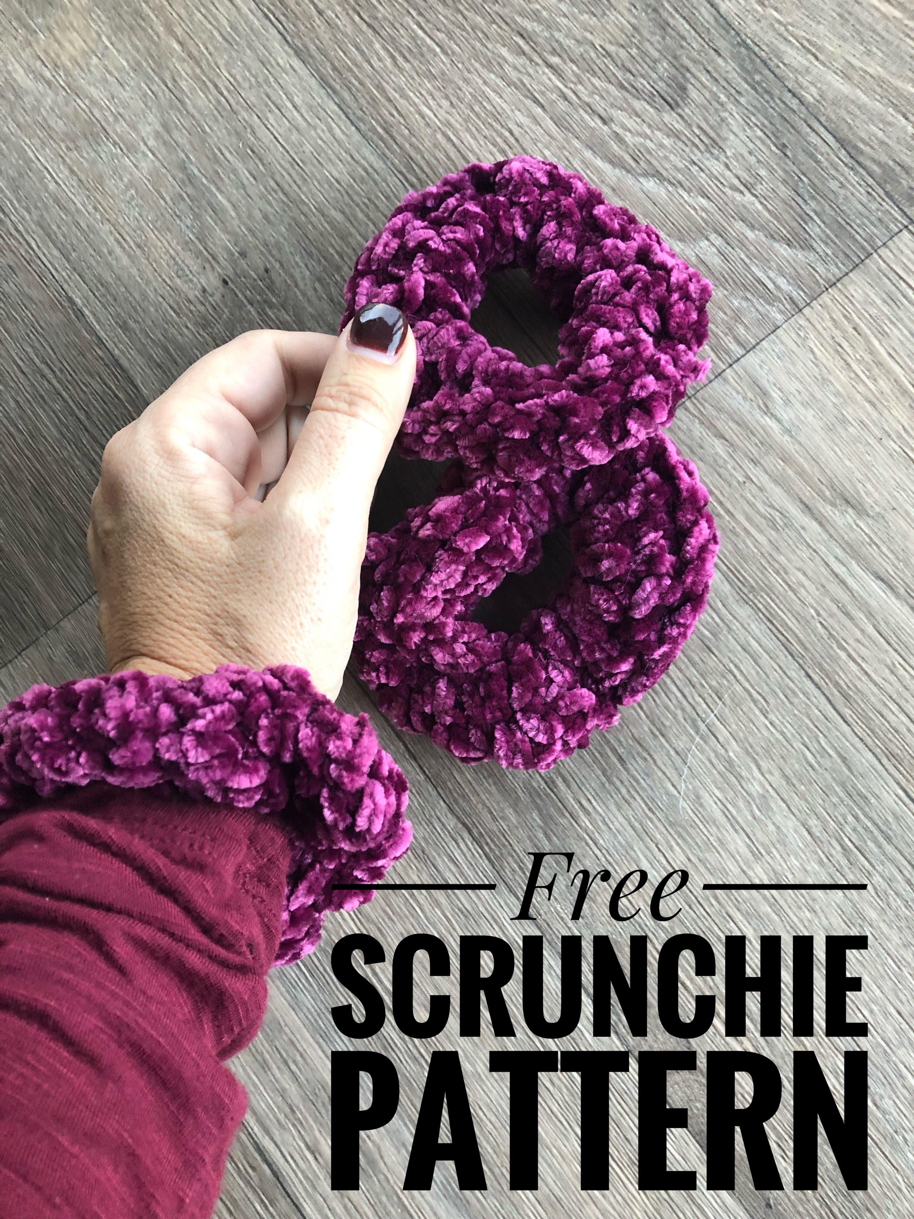 Free scrunchie crochet pattern