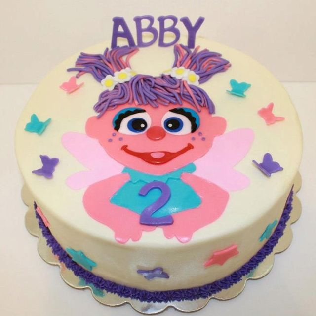 Sensational Abby Cadabby Cake Elmo Birthday Cake Sesame Street Birthday Personalised Birthday Cards Veneteletsinfo