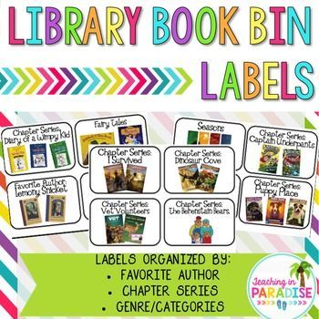 Classroom Library Labels | Library info /activities