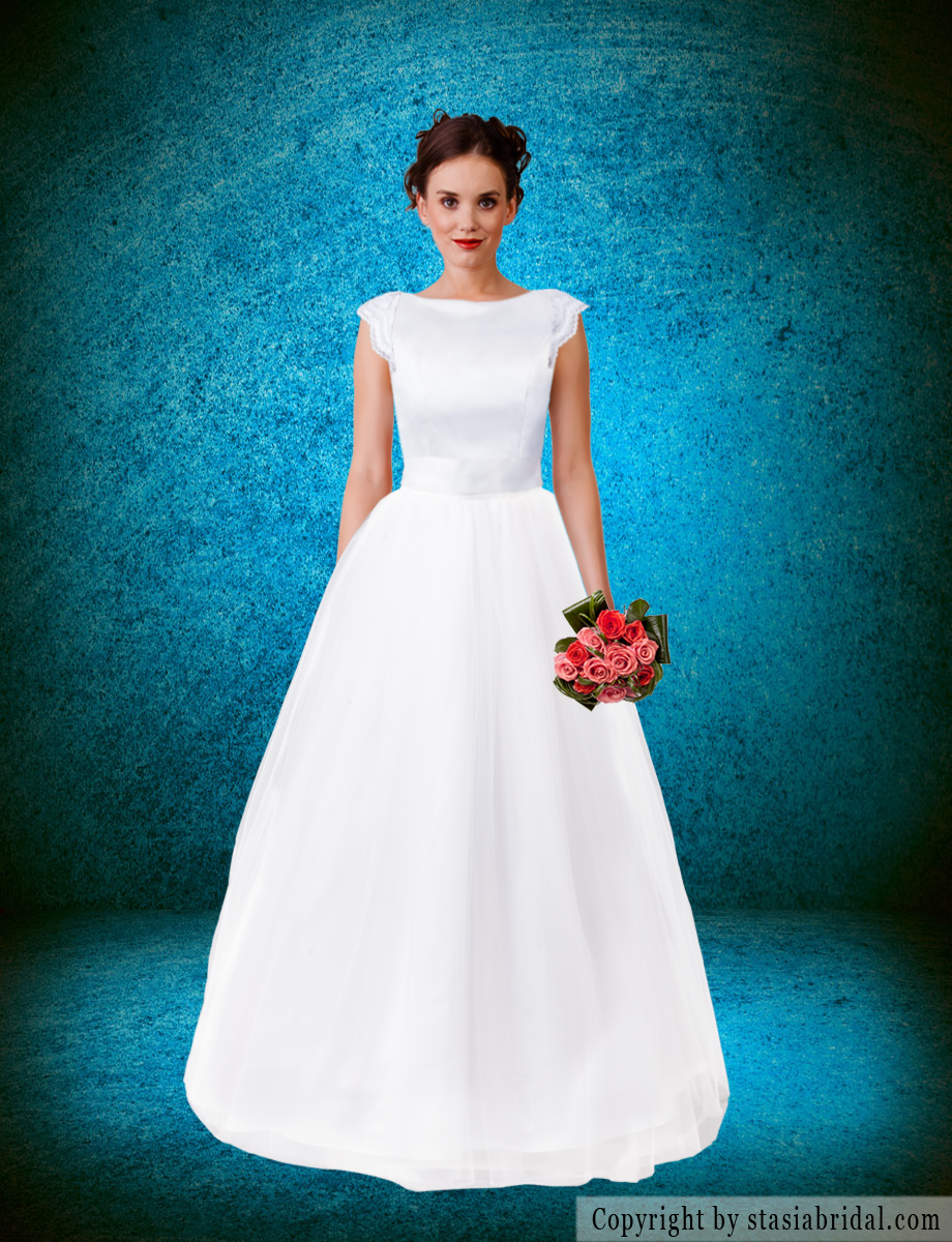 Modest wedding dress/modest wedding gown by custom gown designer ...