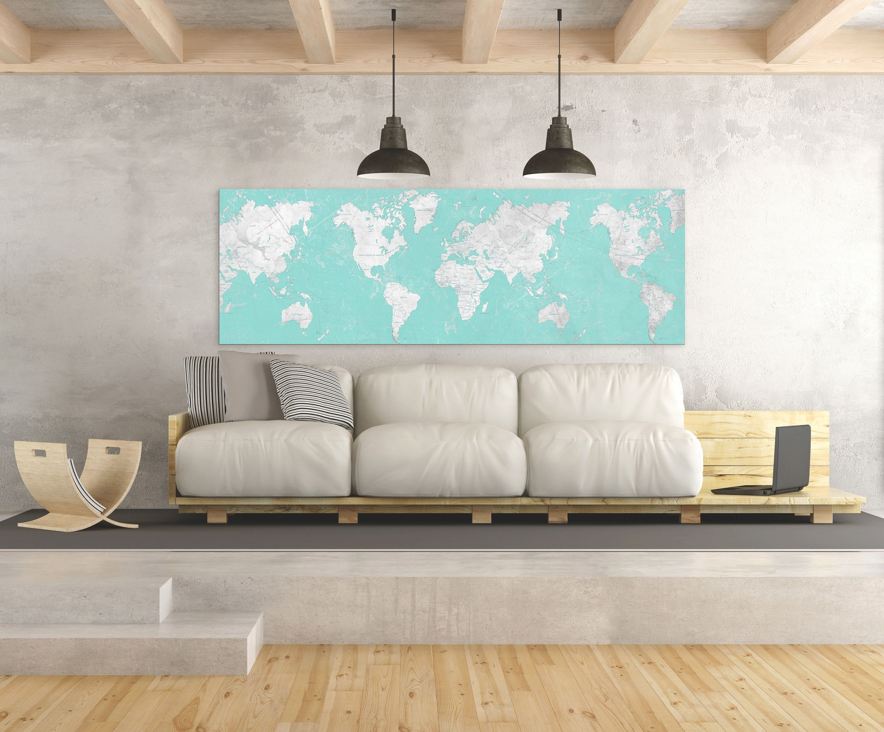 World map canvas print vintage map world map horizontal large world map canvas print vintage neutral light gray beige world map panoramic horizontal long wall art vintage oversized wall art decor poster gumiabroncs Choice Image