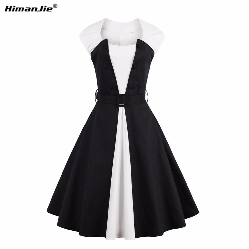 Vintage dresses s s retro hepburn wind ball grown dress plus