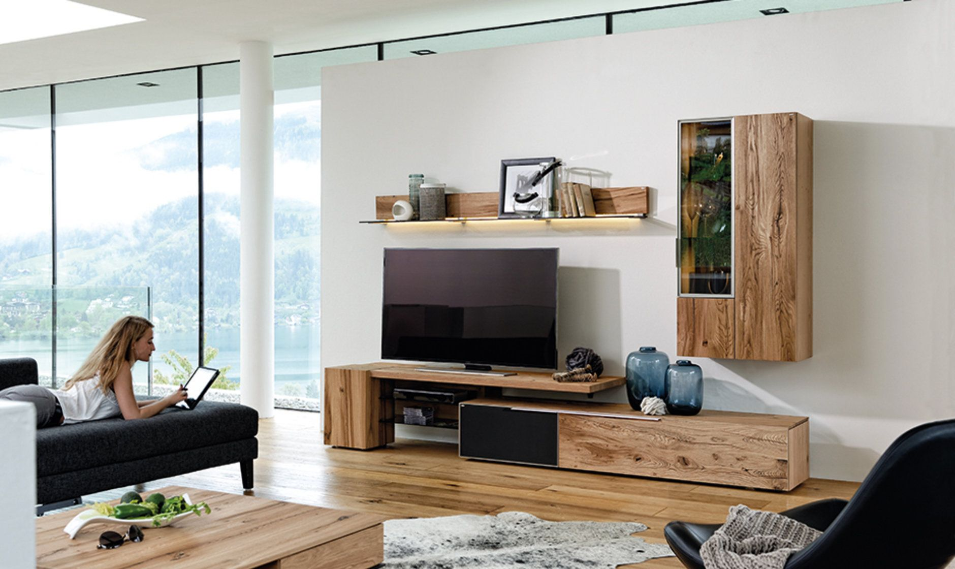 Reclaimed Oak Wood Living Natural Wood Furniture Solid Wood Furniture Wohnen Wohnzimmer Tv Wohn Design