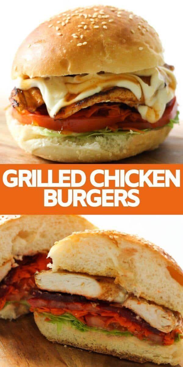 Burger au poulet grillé