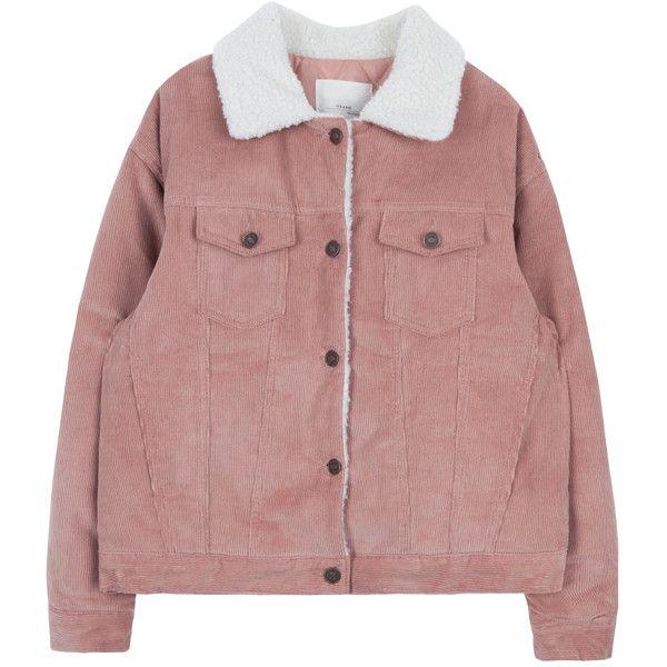 Fur Collar Corduroy Jacket 1 860 Rub Liked On Polyvore