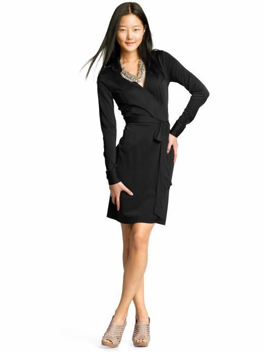 c563e8bf944 Classic Black Wrap-around dress. Never fail fashion