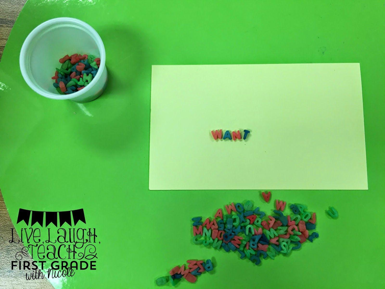 Rainbow Colored Alphabet Pasta For Word Work
