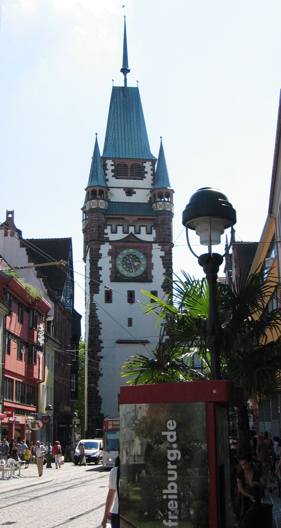 The Martinstor is one of  Freiburg's original city gates,  from the early 13th century.