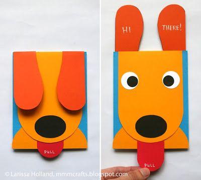 Wollt Ihr Eine Lustige Karte Basteln? Dieser Hund übermittelt Eine  Nachricht Wenn Er Die Zunge Rausstreckt ;) Für Kleine Bastela.