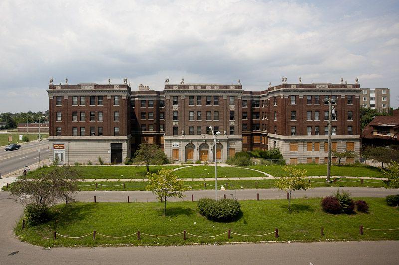 Farrand Park Apartments Abandoned Detroit Highland Park Michigan Highland Park