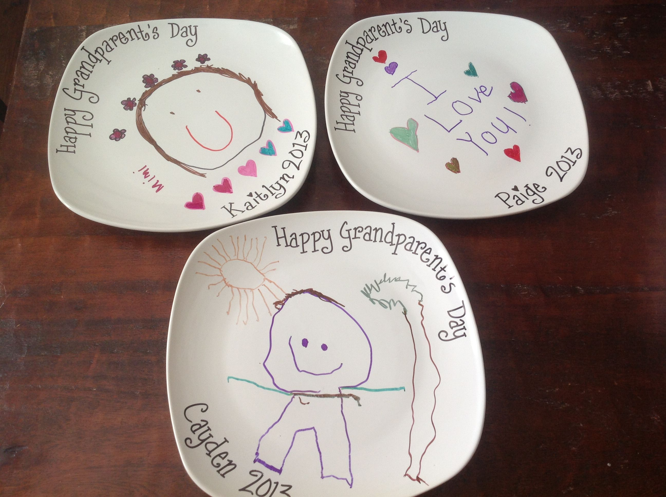 Grandparents Day Craft I Bought The Plates For  At Dollar Tree