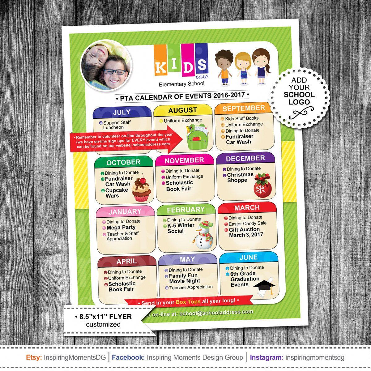 Event Flyer Printable | PTA Calendar | PTN Calendar | School Flyer ...
