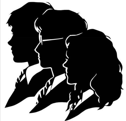 Ron, Harry, Hermione Silhouette Vinyl Wall Decal (Harry ...