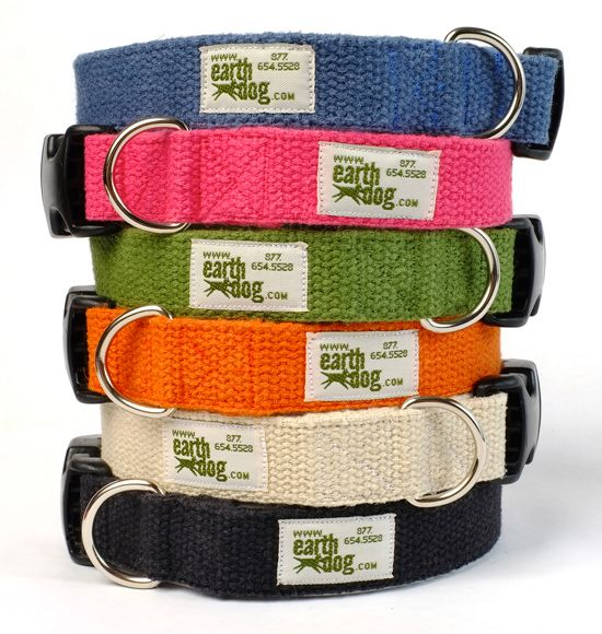 Solid Hemp Adjustable Collars Collars Hemp Dogs
