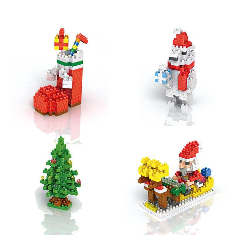loz christmas themed building blocks price 595 free shipping christmas toyschristmas 2016christmas