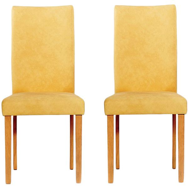Warehouse Of Tiffany Shino Mustard Faux Leather Chairs ($530) ❤ Liked On  Polyvore Featuring