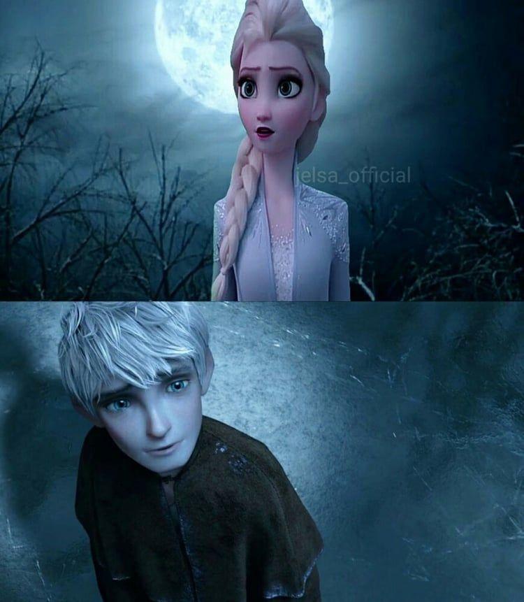 Jack Frost and Elsa Frozen 2 Jelsa on We Heart It The moon