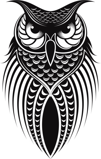 Owl Illustration Dibujos De Tatuaje De Buho Ilustraciones De Buho Tatuajes De Buho Tribales