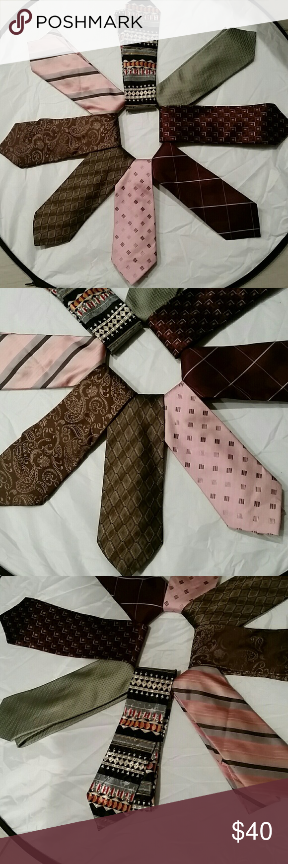 8 men's ties for the price of one. In pre-loved conditions.  8 different brands.  See pic 4. Calvin Klein Accessories Ties