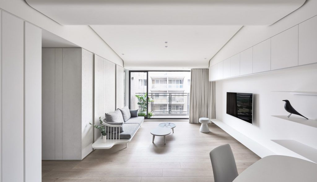 Home designing two modern minimalist homes that indulge in lots of white https also rh pinterest