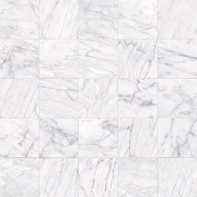 Classic Carrara Marble Bathrooms: Tile Variation - Classic Carrara HD Porcelain