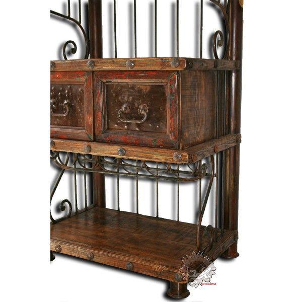 meuble dentre meuble salonmeuble mexicain en bois et fer forg
