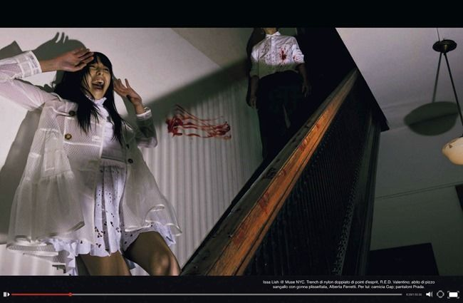 VOGUE ITALIA Issa Lish, Natalie Westling & Bernd Sassmannhausen in Horror Movie by Steven Meisel. Karl Templer, April 2014, www.imageamplified.com, Image Amplified (3)
