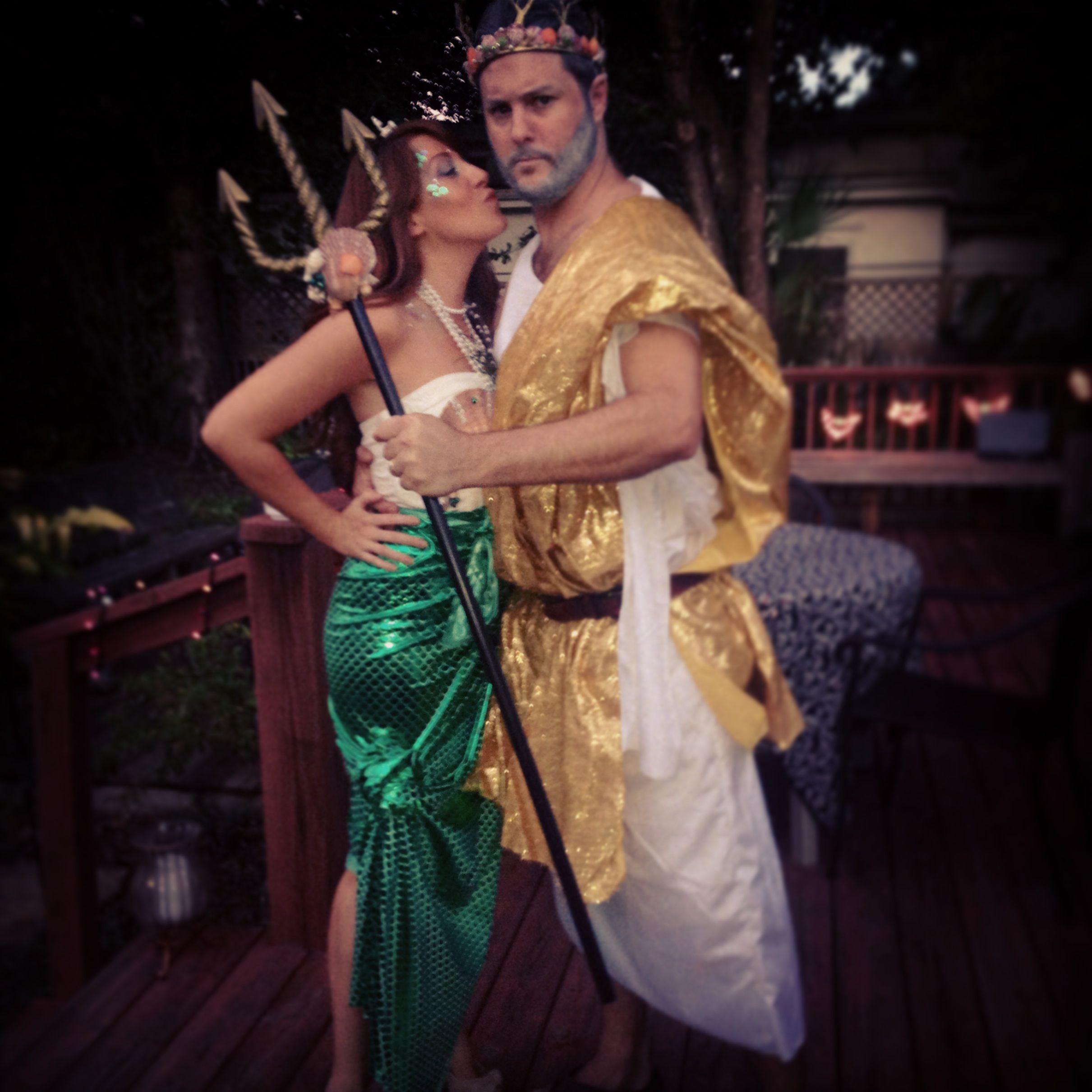 Mermaid and King Neptune costume | Halloween Costumes | Pinterest ...