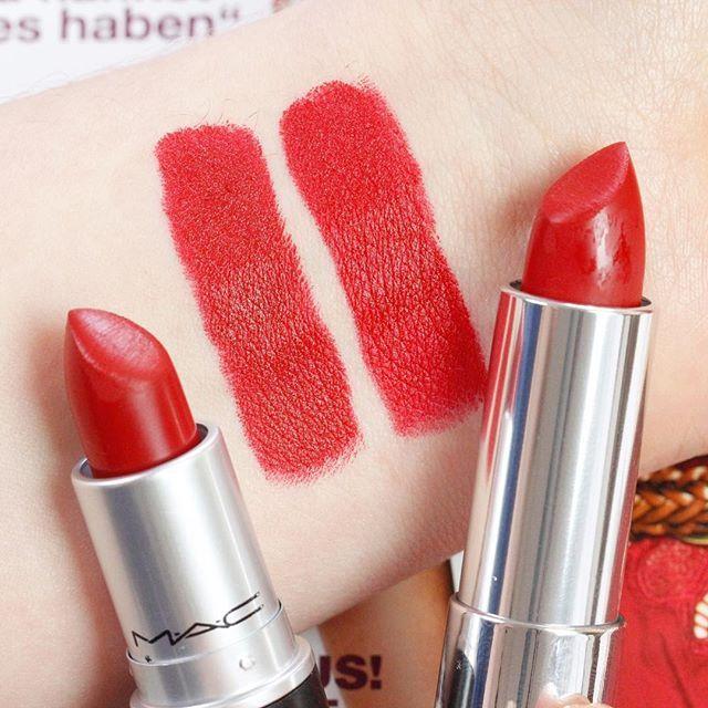 Mac Lipstick Drugstore Dupe Mac Russian Red Vs Maybelline -5529