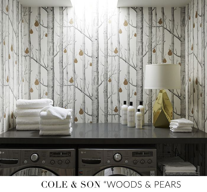 10 Best Wallpapers For Your Laundry Room Sohautestyle Com Grey Laundry Rooms White Laundry Rooms Laundry Room Design
