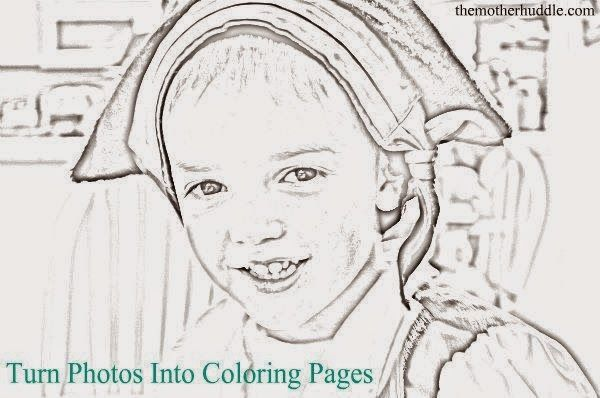 Helping Kids Grow Up Turn Photos Into Coloring Pages Coloring