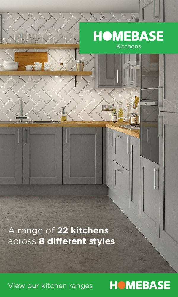 Homebase kitchens have 22 kitchen ranges across 8 different styles. You're sure to find a style that suits. #bluegreykitchens