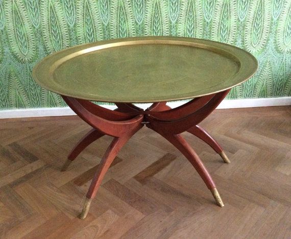 Brass Coffee Table Spider Leg Base Vintage By TheLittleIrishShop