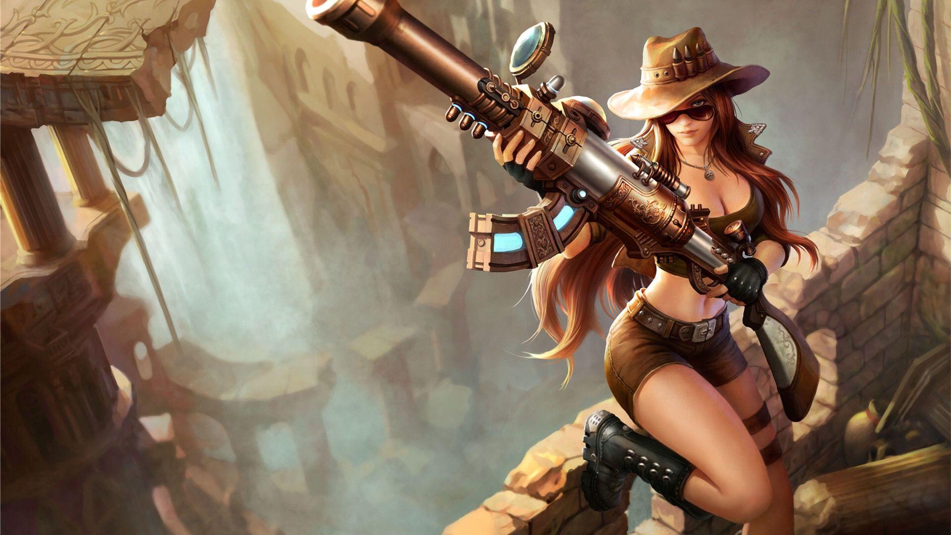 Dragon lore wallpaper wallpapersafari - Download Wallpaper Safari Caitlyn Skin Full Hd On Gamewalls