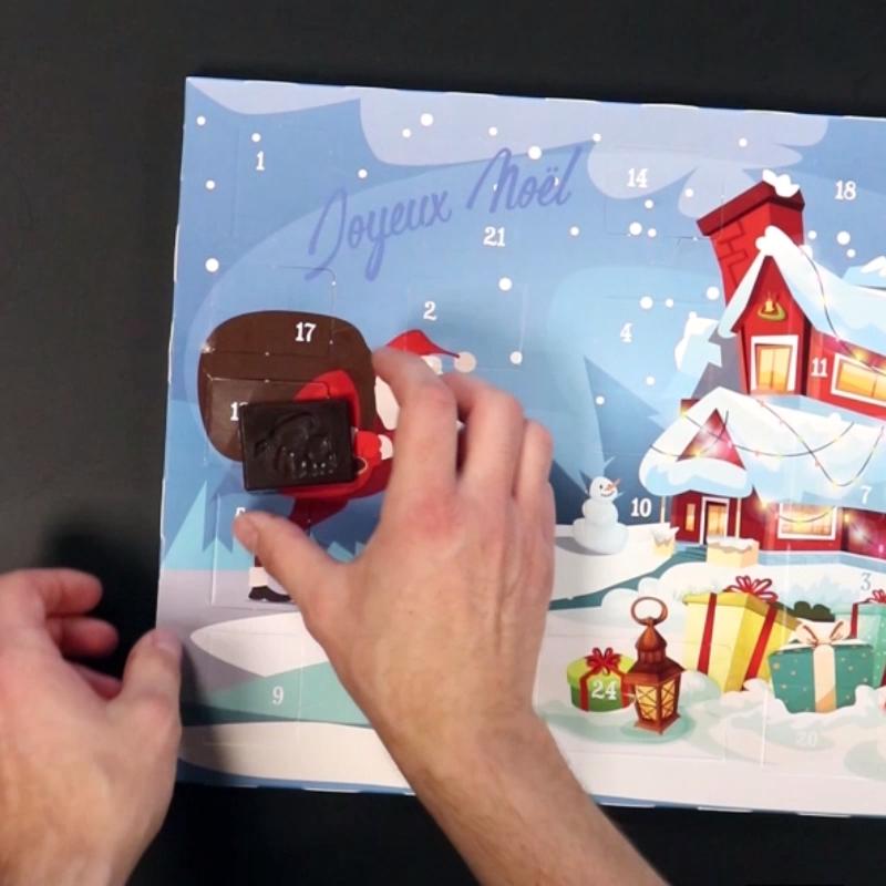 Calendrier de l'avent chocolat fait maison DIY Noël