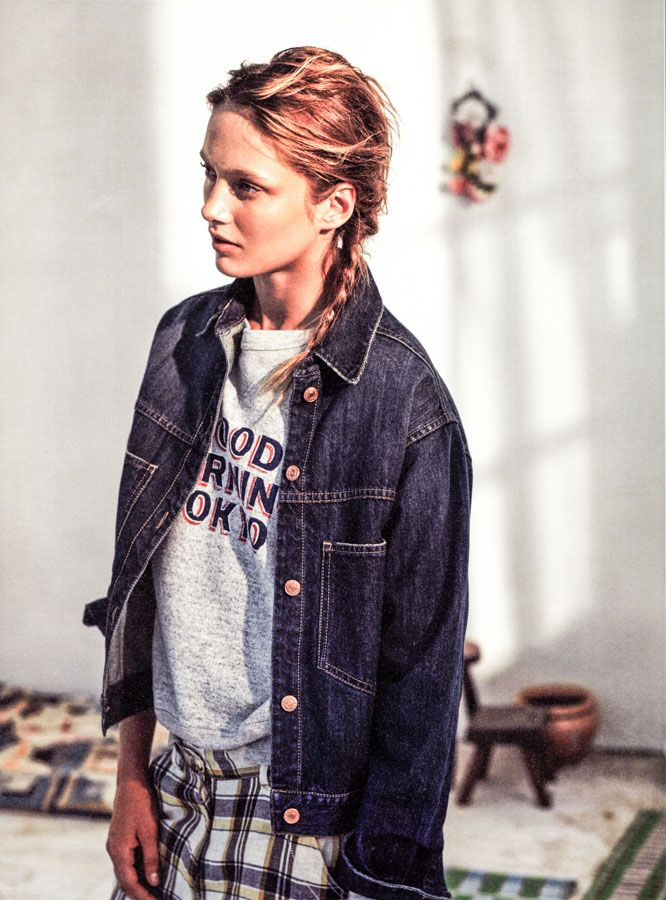 Isabel Marant Etoile/Spring 2014 lookbook  PAELY jacket + HAMMER t-shirt + UMBER pants