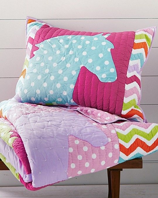 Pony Up Quilt And Sham   Fun Colors For A Fun Bedroom!