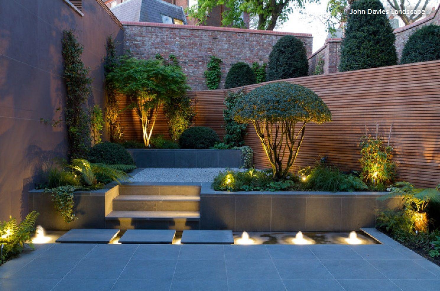 Pin On Outdoor Modern backyard lighting ideas