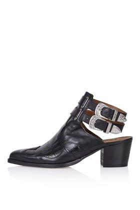 AUSTIN Western Cut-Out Boots TopShop