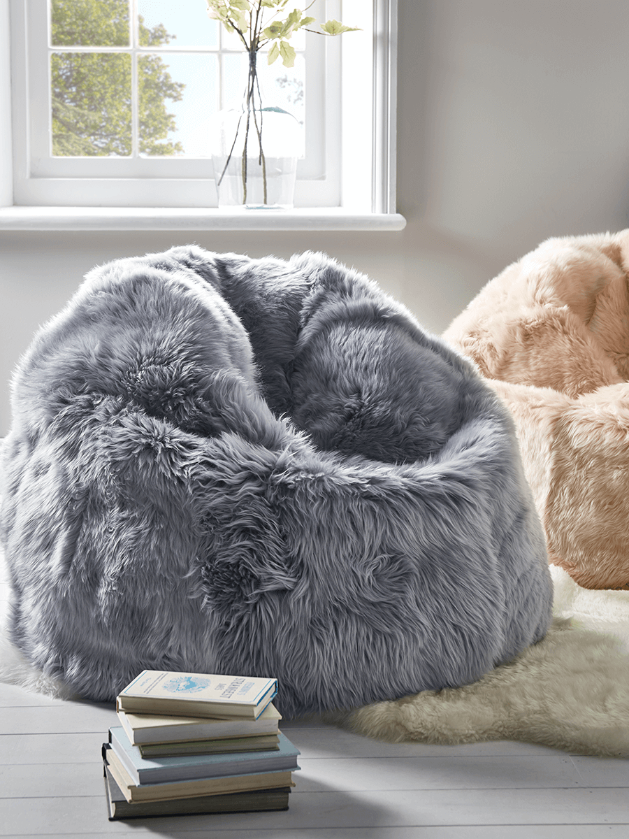 Sumptuous Sheepskin Beanbag Ivory In 2020 Faux Fur Bean Bag