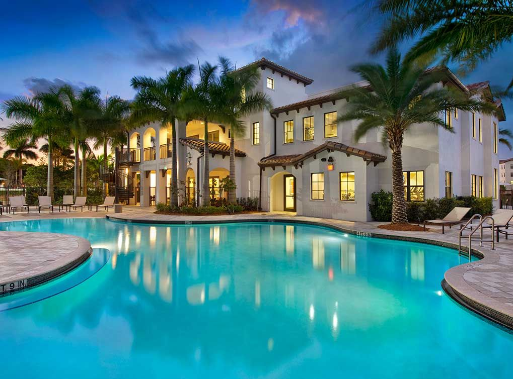 Luxury Apartments Pool take a dip in the resort-style swimming pool at amli doral, luxury