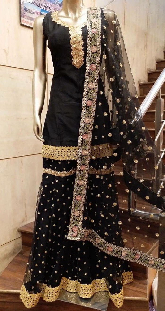 c18a4863b4 Pinterest: @pawank90 | Shaheen in 2019 | Indian dresses, Indian designer  wear, Sharara designs