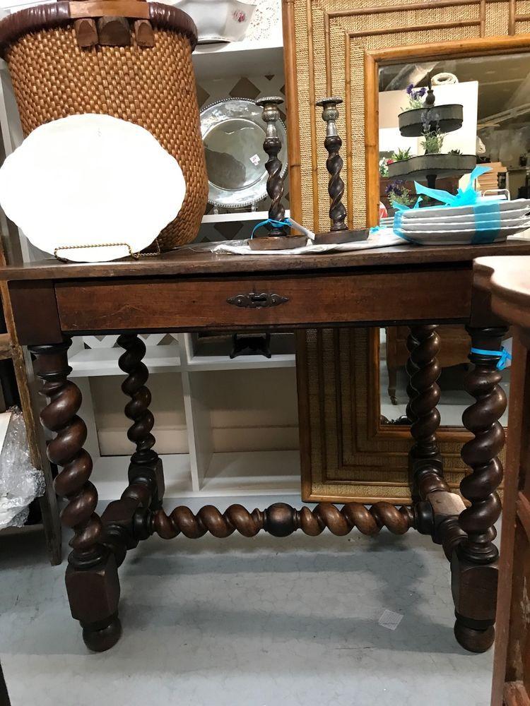 Antique Barley Twist End Table - Antique Barley Twist End Table Antique Furniture And Tables