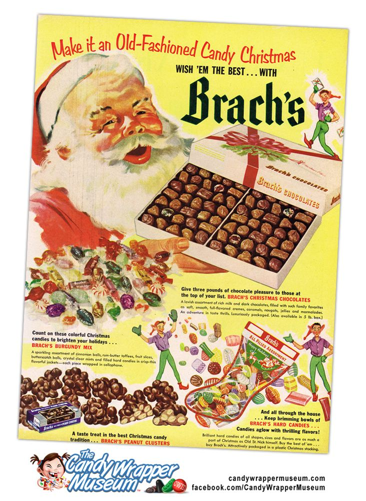 vintage 1950s brachs christmas candy ad