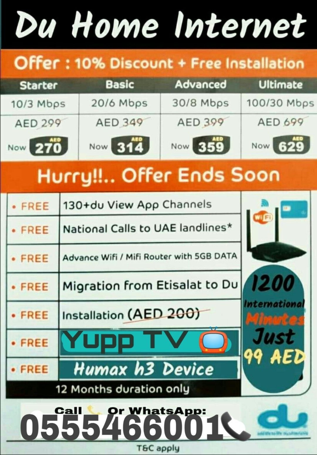 Du high speed promotion offer (🇦🇪 ALL area's available in