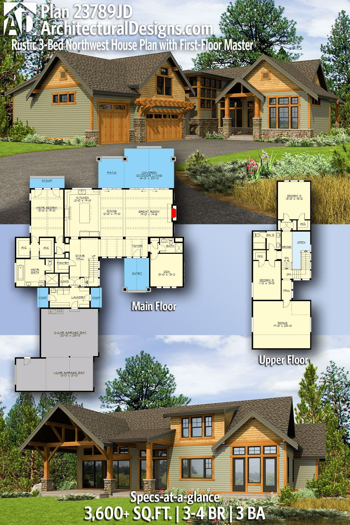21 Lovely Home Plans Craftsman Mountain To Get Relax Dream House Plans House Plans Mountain House Plans