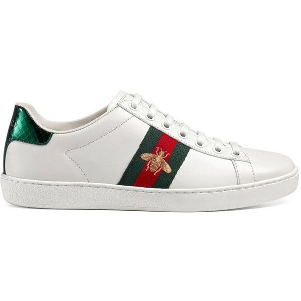 Gucci Ace Embroidered Low-Top Sneaker ( 595) ❤ liked on Polyvore featuring  shoes d46dd449fcc