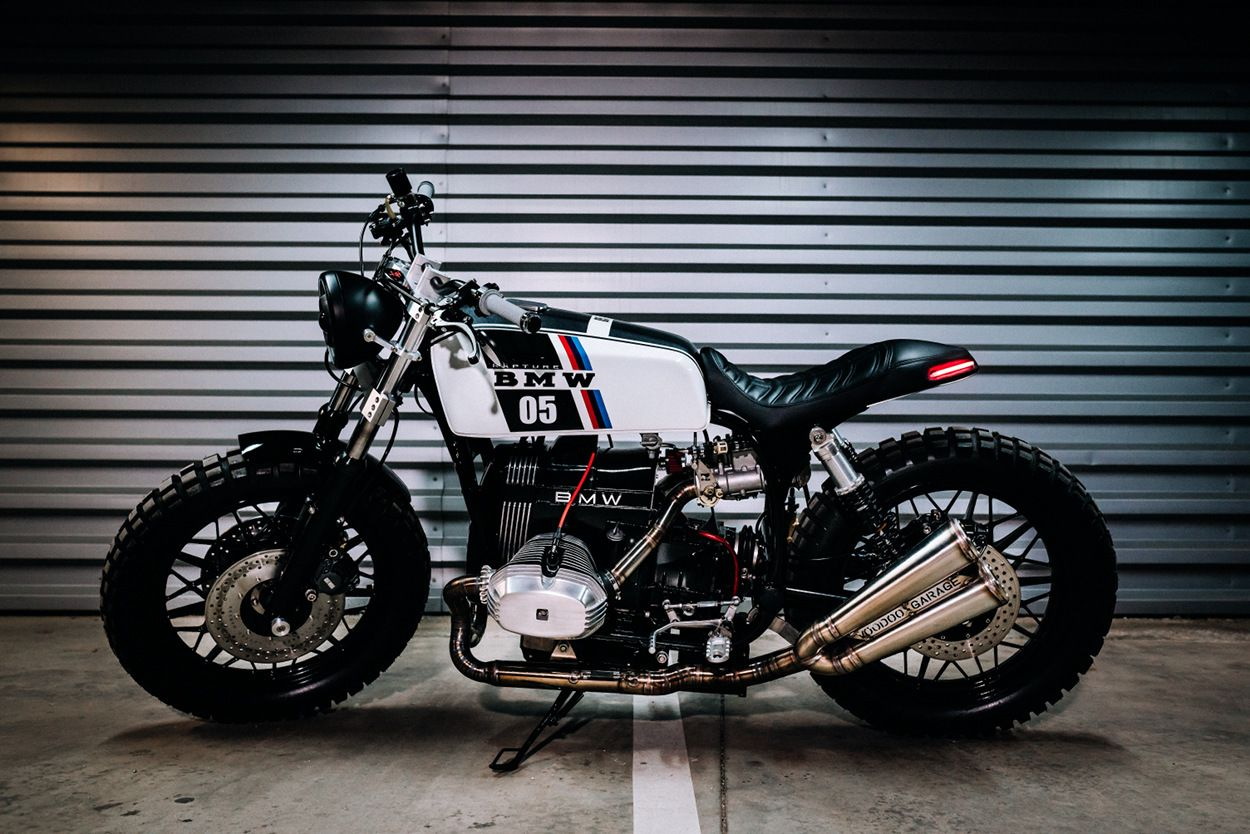 Bmw r65 scrambler by voodoo garage moto pinterest for Garage bmw 33